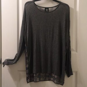 Two Toned Kint Tunic Top XL